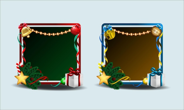 Vetor de moldura de borda de feliz natal