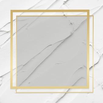 Vetor de moldura dourada em plano de fundo texturizado branco
