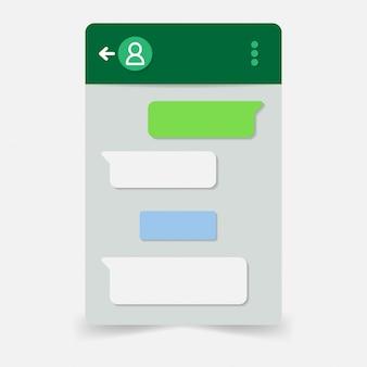 Vetor de monitor de aplicativo de bate-papo simples moderno