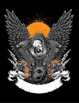 Vetor de motor de águia