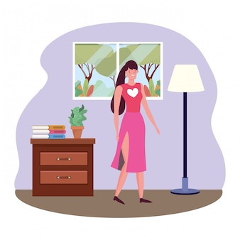 Vetor de mulher avatar isolado