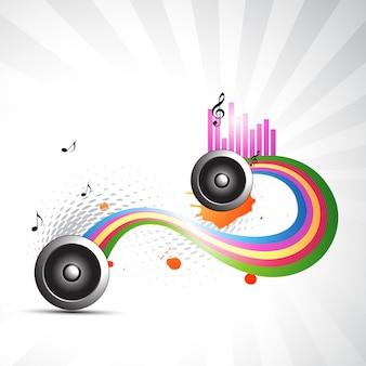 Vetor de música abstrato ilustração de design de fundo