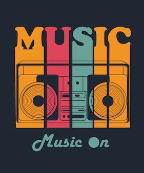 Vetor de música para design de camisa de t