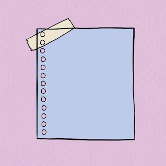 Vetor de nota digital em fundo roxo pastel