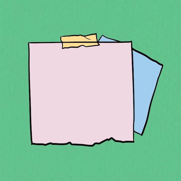Vetor de nota digital em fundo verde pastel