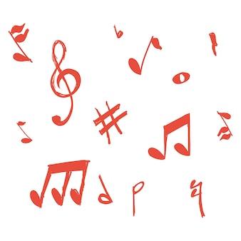 Vetor de notas musicais doodle