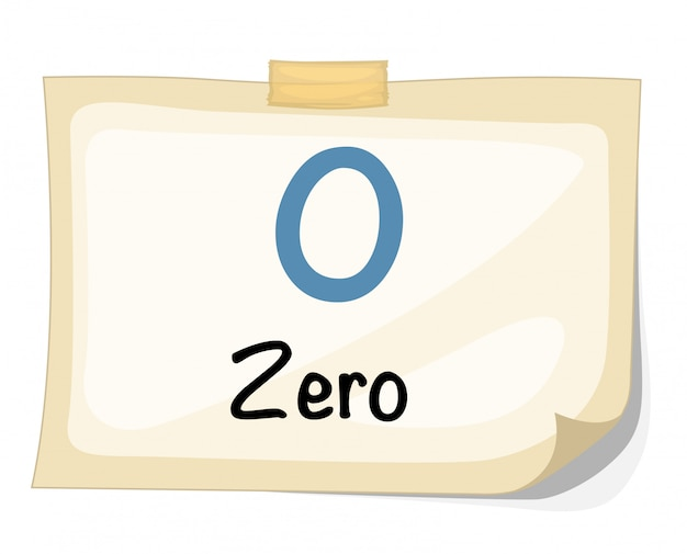 Vetor de número zero