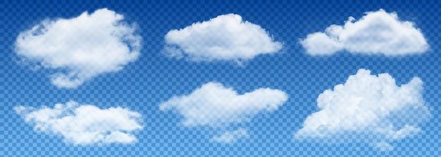 Vetor de nuvem de transparência