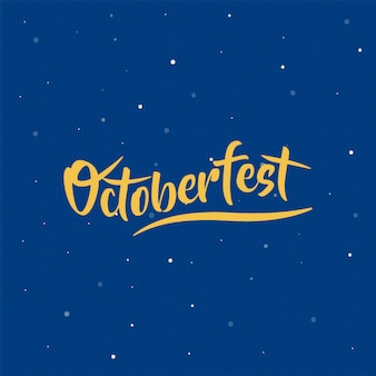 Vetor de octoberfest lettering com composição