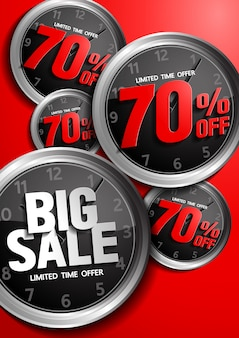 Vetor de oferta de tempo limitado de grande venda
