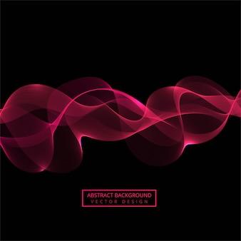 Vetor de onda fluindo rosa abstrata