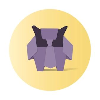 Vetor de origami animal