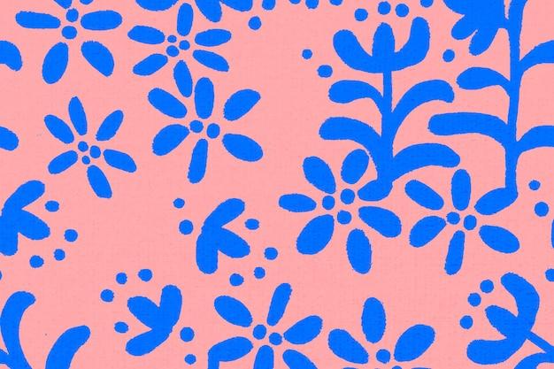 Vetor de origem étnica de padrão de flor, design vintage