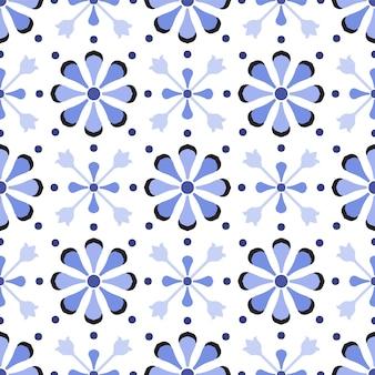 Vetor de padrão de azulejo bonito