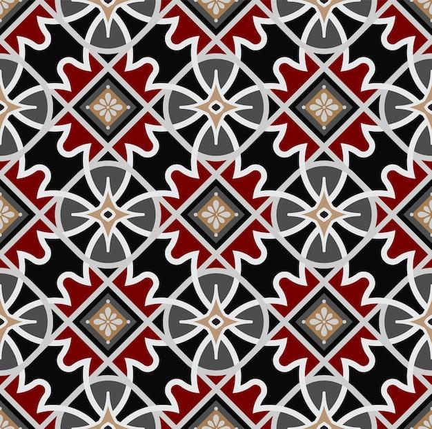 Vetor de padrão de batique colorido