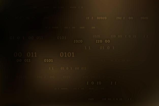 Vetor de padrão de código binário em fundo escuro