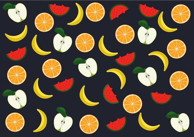 Vetor de padrão de frutas