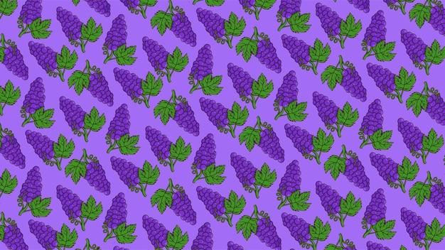 Vetor de padrão de fundo de uva isolado