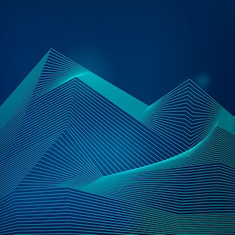 Vetor de padrão de onda dinâmica de visualização de dados