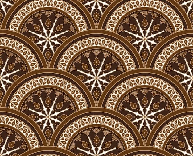 Vetor de padrão floral de batique