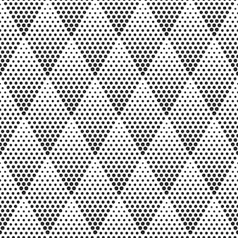 Vetor de padrão sem emenda de meio-tom geométrico
