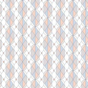 Vetor de padrão sem emenda geométrico pastel colorido