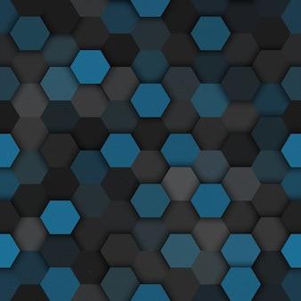 Vetor de padrão sem emenda hexagonal de tecnologia