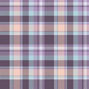 Vetor de padrão xadrez sem costura tartan escócia. tecido de fundo retrô. textura quadrada geométrica de cor vintage para têxteis