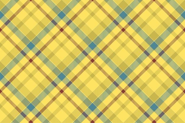 Vetor de padrão xadrez sem costura tartan escócia. tecido de fundo retrô.
