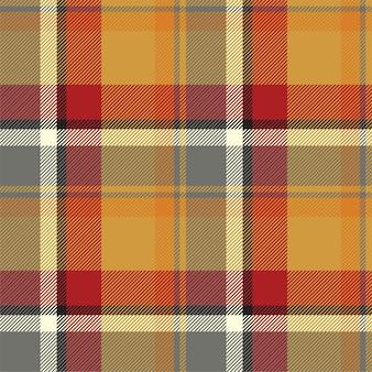 Vetor de padrão xadrez sem costura tartan escócia
