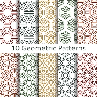 Vetor de padrões geométricos sem costura