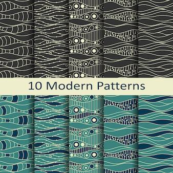 Vetor de padrões sem costura moderna
