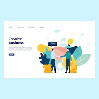 Vetor de página da web de negócios criativos