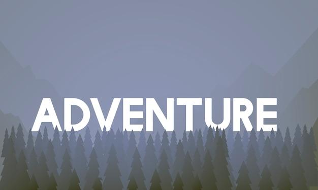Vetor de paisagem de destino de aventura de viagem