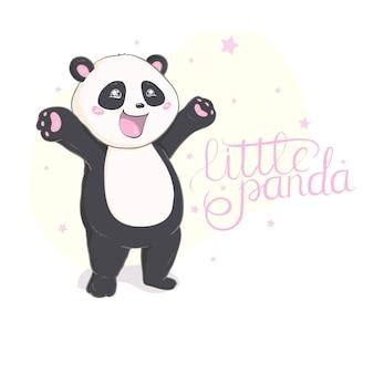 Vetor de panda bonito