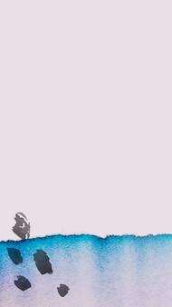 Vetor de papel de parede de história do instagram em aquarela, plano de fundo mínimo de mídia social
