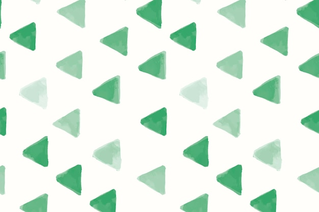 Vetor de papel de parede de padrão sem emenda em forma de triângulo verde