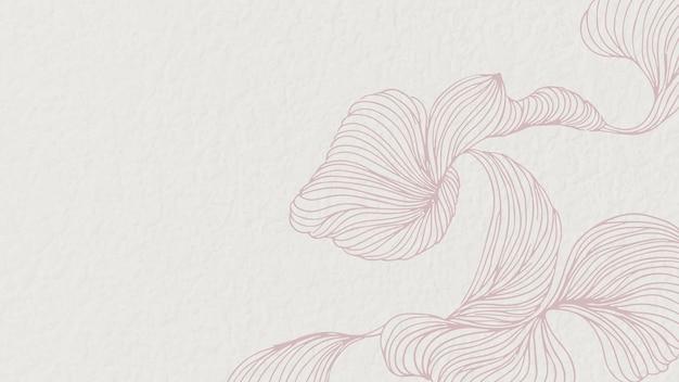 Vetor de papel de parede de quadro abstrato floral rosa