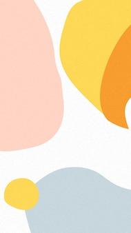 Vetor de papel de parede para celular colorido tropical de memphis