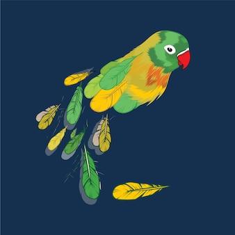 Vetor de pássaro amor ilustration