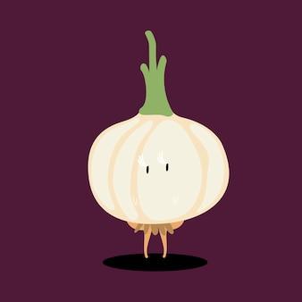Vetor de personagem de desenho animado de cebola fresca