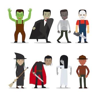 Vetor de personagens de terror