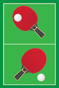 Vetor de ping pong de ténis de mesa
