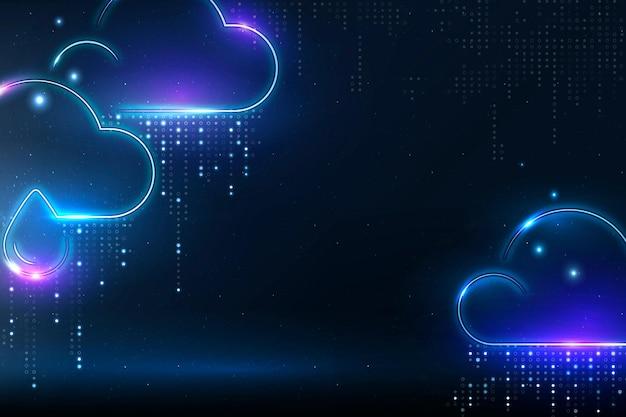 Vetor de plano de fundo de mudança climática com borda de nuvens de chuva
