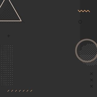 Vetor de plano de fundo do anúncio memphis instagram em tom escuro