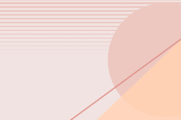 Vetor de plano de fundo do cenário geométrico da lua em rosa pastel e laranja