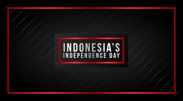 Vetor de plano de fundo do dia da independência da indonésia