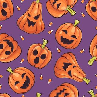 Vetor de plano de fundo padrão sem emenda de halloween