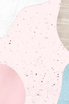 Vetor de plano de fundo texturizado de colagem rosa e azul Vetor grátis
