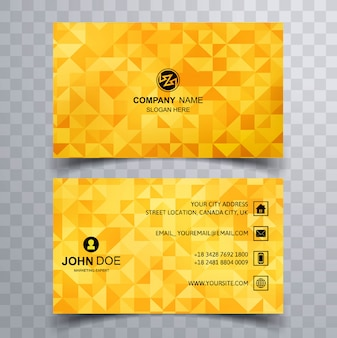 Vetor de polígono de belo cartão de visita